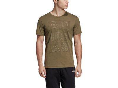 ADIDAS Herren T-Shirt ID Lineage Braun