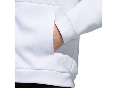 ADIDAS Herren Sport 2 Street Doubleknit Sweat Kapuzenjacke Weiß