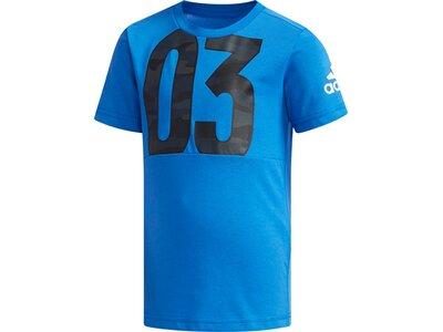 ADIDAS Kinder T-Shirt Blau