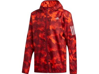 ADIDAS Herren Own the Run Camouflage Jacke Rot