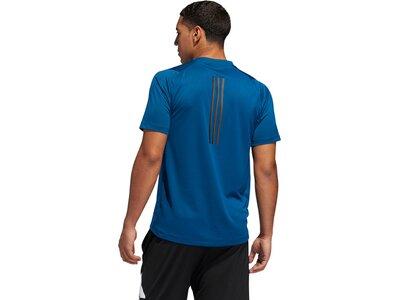 ADIDAS Herren T-Shirt FreeLift Sport Fitted 3-Streifen Blau