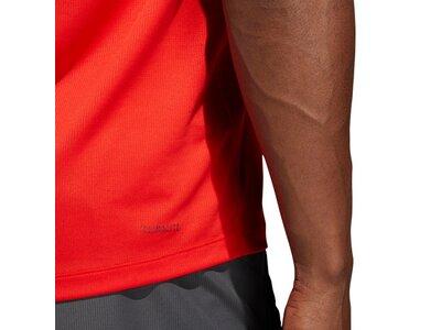 ADIDAS Herren T-Shirt FreeLift Sport Fitted 3-Streifen Rot