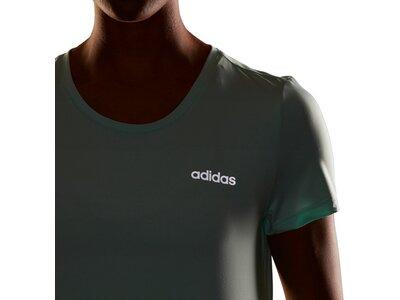 ADIDAS Damen T-Shirt Design 2 Move Solid Silber
