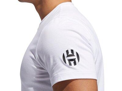 ADIDAS Herren T-Shirt Harden Swagger Art Graphic Grau