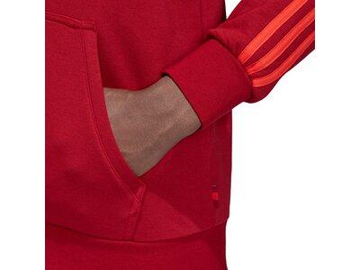 ADIDAS Herren Kapuzensweat FC Bayern 3 Stripes Full Zip Rot