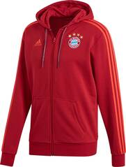 ADIDAS Herren Kapuzensweat FC Bayern 3 Stripes Full Zip
