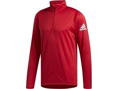 ADIDAS Herren Shirt FreeLift Sport 1/4 Zip Rot