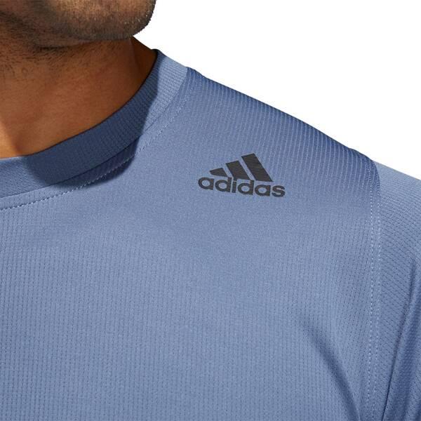 ADIDAS Herren FreeLift Sport Fitted 3-Streifen T-Shirt