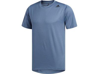 ADIDAS Herren T-Shirt FreeLift Sport Fitted 3-Streifen Grün