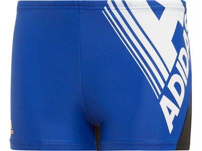 ADIDAS Kinder Fitness Logo Boxer-Badehose Blau