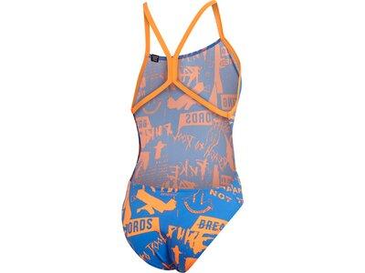 ADIDAS Damen Allover Print Pro Badeanzug Blau