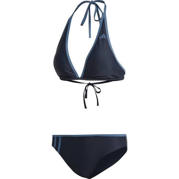 Bademode - ADIDAS Damen Beach Halter Bikini › Braun  - Onlineshop Intersport