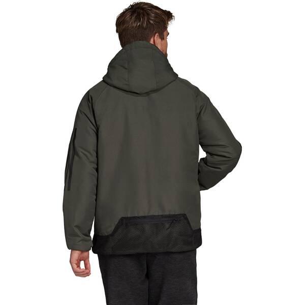 ADIDAS Herren Back-to-Sports 3-Streifen Hooded Insulated Jacke