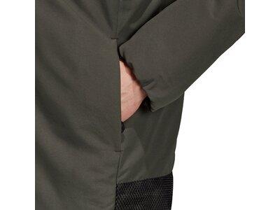 ADIDAS Herren Back-to-Sports 3-Streifen Hooded Insulated Jacke Grau