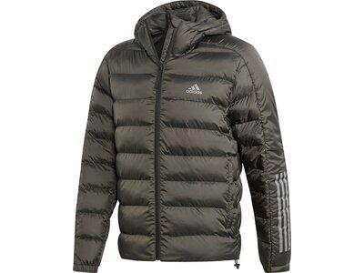 "ADIDAS Herren Steppjacke mit Kapuze ""Itavic 3-Stripes 2.0 Winter Jacket"" Grau"