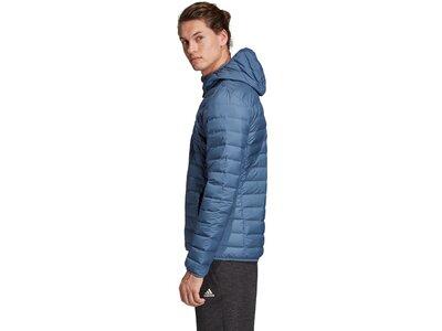 ADIDAS Herren Varilite Soft 3-Streifen Hooded Jacke Grau