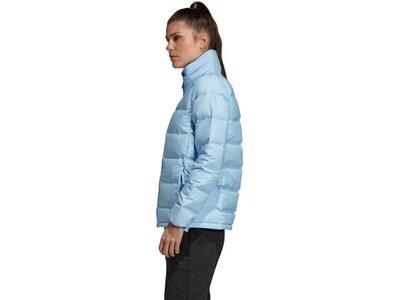 adidas Damen HELIONIC 3-STRIPES DAUNENJACKE Blau