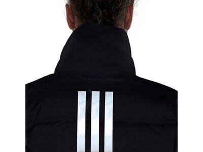 adidas Damen HELIONIC 3-STRIPES DAUNENJACKE Schwarz