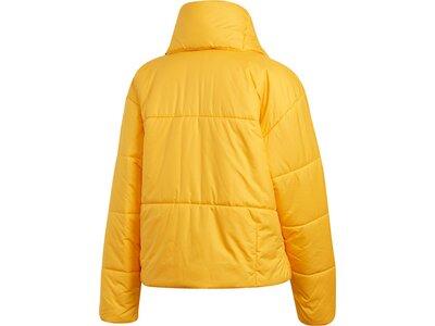 adidas Damen BIG BAFFLE BOMBER WINTERJACKE Gelb