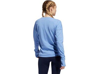 ADIDAS Damen Supernova Run Cru Sweatshirt Blau