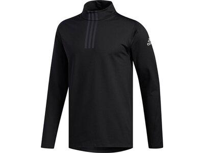 ADIDAS Herren Shirt WARM 3S MOCK Schwarz
