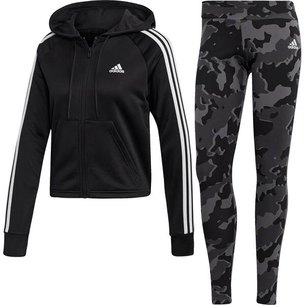 ADIDAS Damen Hoodie and Tights Trainingsanzug