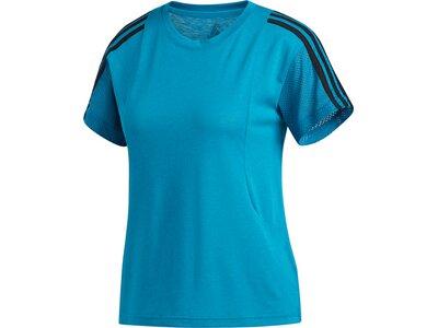ADIDAS Damen Shirt 3S MESH SLV T Blau