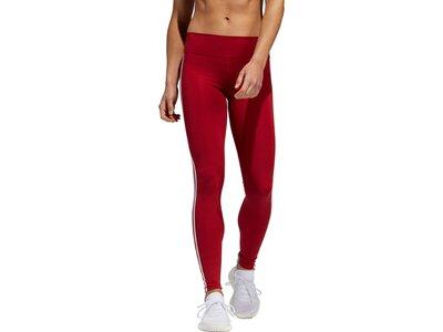 ADIDAS Damen Believe This 3-Streifen Tight Rot