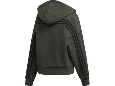 ADIDAS Damen Must Haves 3-Streifen Kapuzenjacke Grau