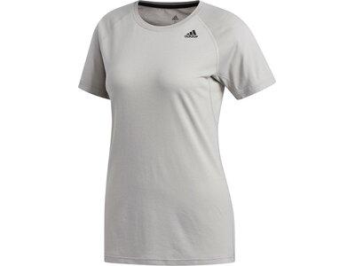 ADIDAS Damen T-Shirt Prime Silber