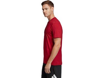 ADIDAS Herren T-Shirt Must Haves Badge of Sport Rot