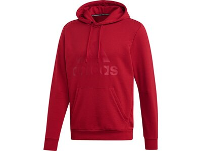 ADIDAS Herren Must Haves Badge of Sport Hoodie Rot