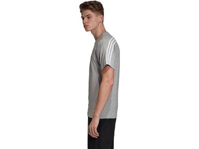 ADIDAS Lifestyle - Textilien - T-Shirts MH 3 Stripes T-Shirt Grau