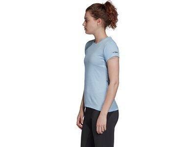 ADIDAS Damen T-Shirt Tivid Blau