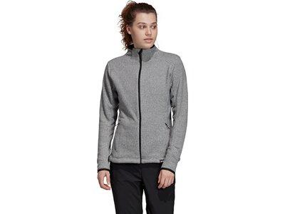 ADIDAS Damen Sweatshirt Knit Fleece Grau