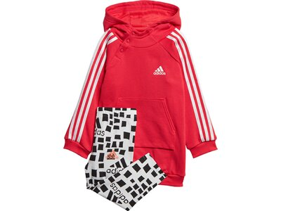 ADIDAS Kinder Hooded Kleid-Set Rot