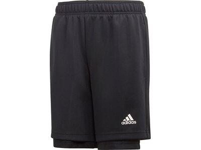 ADIDAS Kinder 2-in-1 Mesh Shorts Schwarz