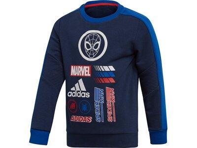 ADIDAS Kinder Marvel Spider-Man Sweatshirt Blau