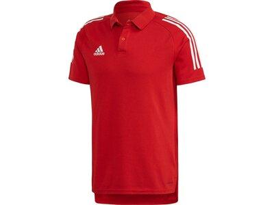 adidas Herren Condivo 20 Poloshirt Rot