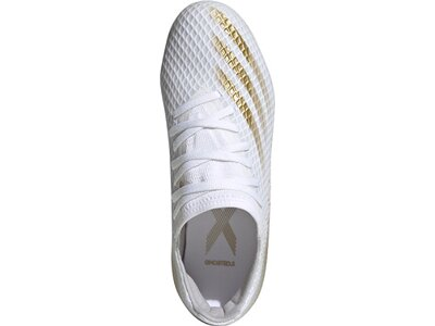 adidas Kinder Fußballschuhe X GHOSTED.3 MG Weiß