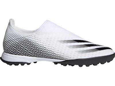 adidas Herren X Ghosted.3 Laceless TF Fußballschuh Weiß
