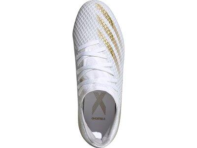 adidas Kinder Fußballschuhe X GHOSTED.3 FG Weiß