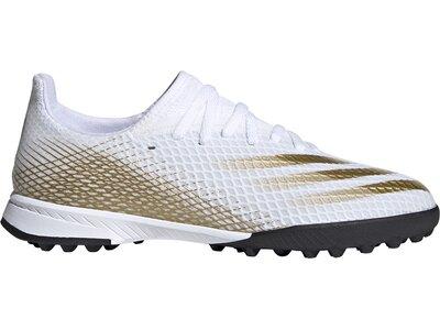 adidas Kinder X Ghosted.3 TF Fußballschuh Weiß