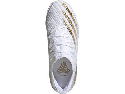 adidas Kinder Fußballschuhe X GHOSTED.3 IN Weiß