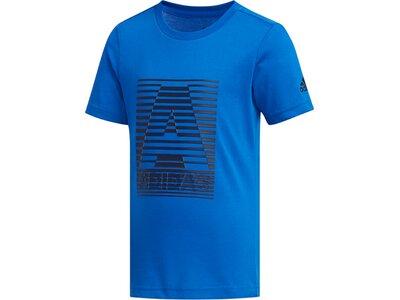 ADIDAS Kinder T-Shirt Cotton Blau