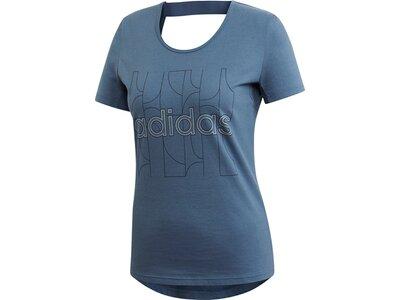 ADIDAS Damen T-Shirt Motion Blau