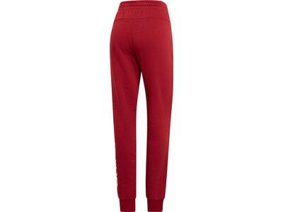 ADIDAS Damen Essentials Linear Hose Rot