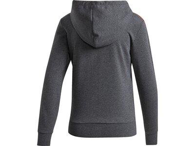 ADIDAS Damen Essentials 3-Streifen Kapuzenjacke Grau
