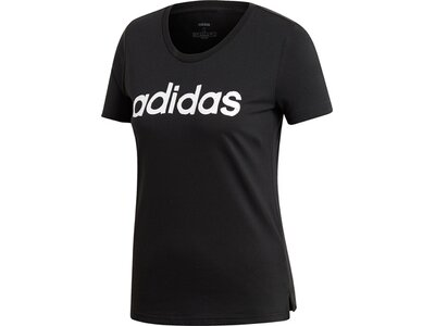 ADIDAS Damen T-Shirt Brush Effect Logo Graphic Schwarz