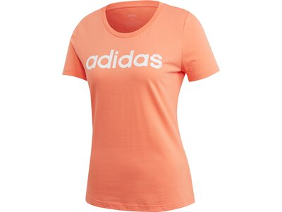 ADIDAS Damen Brush Effect Logo Graphic T-Shirt Braun